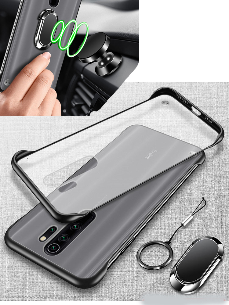 For Xiaomi Redmi Note 7 8 Case Cover Shockproof Redmi Note 7 8 Pro clear Protective Xiomi mi 9t K20 magnet car ring holder case