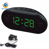 With Backlight Snooze Clock Electric Bedside Clock Large LED Digital AM FM Radio Alarm Clock Table Watch Shelf Desk Clocks