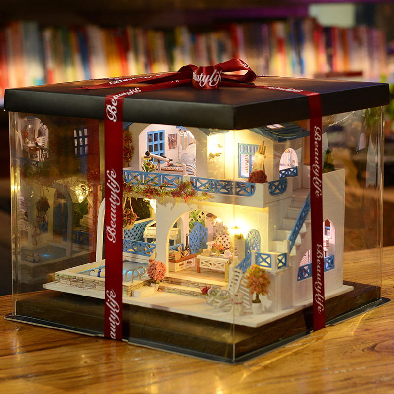 Small House DIY Mini Small House Model Creative Art Toy House Oversized Assembled Villa Princess Room