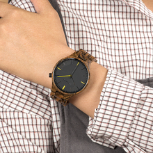 relogio masculino BOBO BIRD Wooden Watch Men Quartz Wood Bamboo Wristwatches Male Groomsman Gift reloj hombre bobo bird g26 brand design mens bamboo watch green second pointer quartz watches for men women as best gift wood gift box