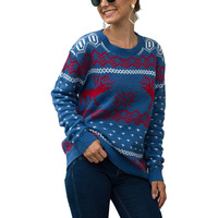 Ugly Christmas Sweaters Womens Xmas Funny Chrismas Sweaters Round neck women sweaters winter cloths women