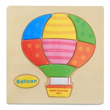 Wooden Puzzle Cartoon Design Educational Developmental Baby Kid Training Toy Educational Toy Best Gift for Baby chinese rings tradictional developmental toy