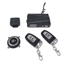 12V Car Alarm Passive Keyless One Button Start Remote Control System Auto Central Lock Push Button Start Stop Automotive PKE