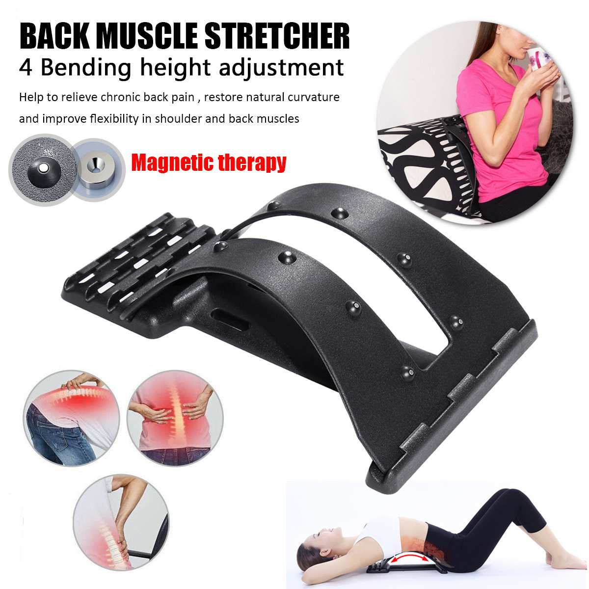 Magnetic Back Massage Muscle Stretcher