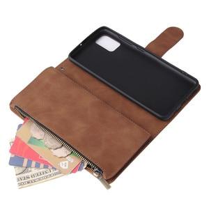 Image 5 - Rits Lederen Voor Samsung Galaxy A01 A11 A21 A41 A51 A71 A81 A91 A50 A30 A70 Case Magnetic Wallet Card flip Stand Phone Bag