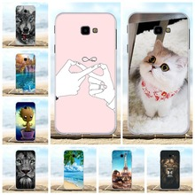 For Samsung Galaxy J4 Prime Case TPU Plus J415F J415FN J415G Cover Lion Pattern Coque