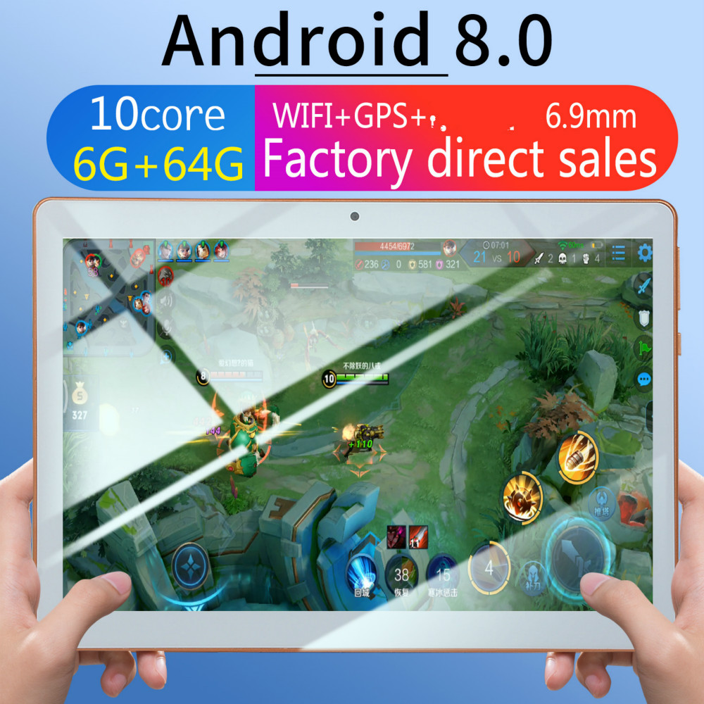 2019 Fashion Tablet 10 Inch Android Tablet Android 8.0 Support 4G Dual Card Phone Call 1280*800 IPS Android Tablet