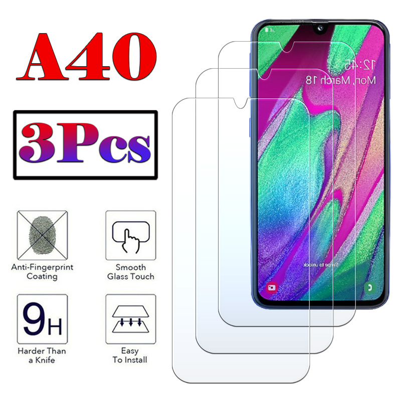 40A Tempered <font><b>Glass</b></font> For <font><b>Samsung</b></font> Galaxy A40 <font><b>A</b></font> <font><b>40</b></font> Screen Protective <font><b>Glass</b></font> Front Film Phone Protector on 9h Cover Protection tremp image
