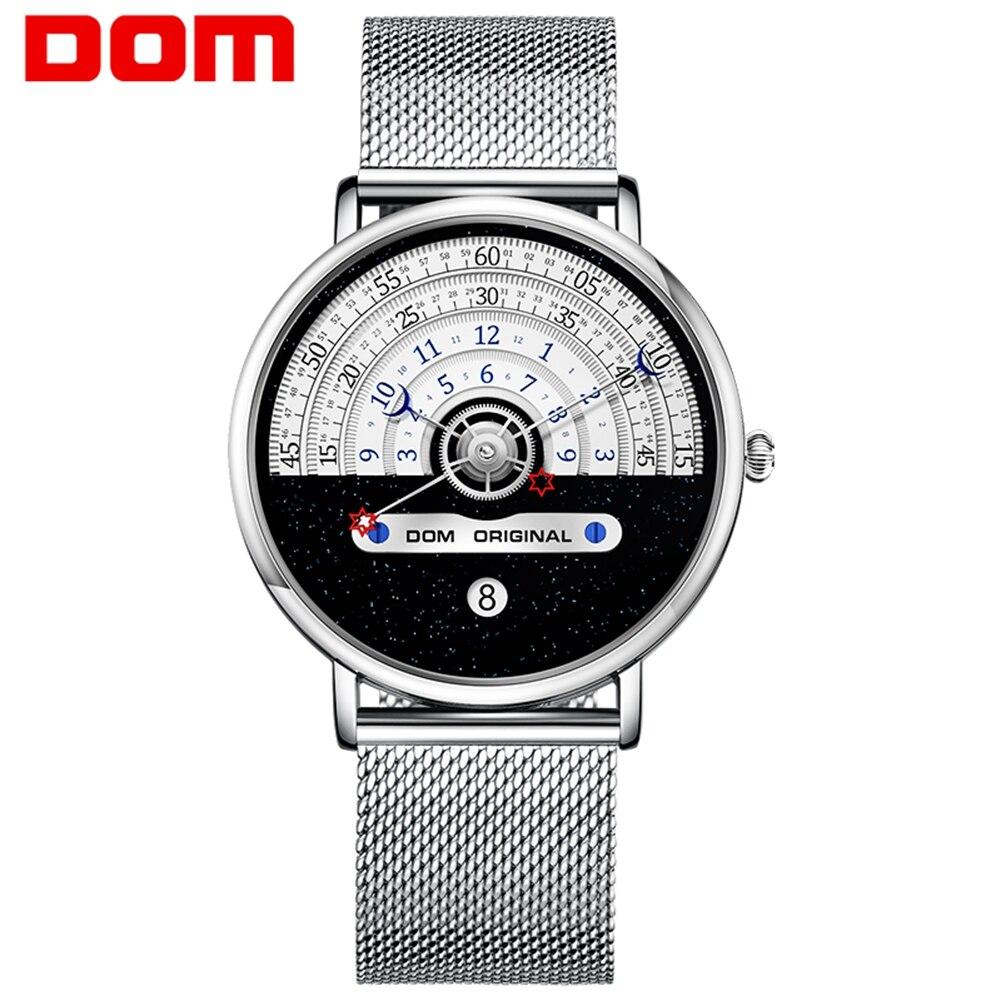 Мужские часы DOM 2021, Креативные мужские часы, мужские наручные часы, Роскошные мужские часы, женские часы