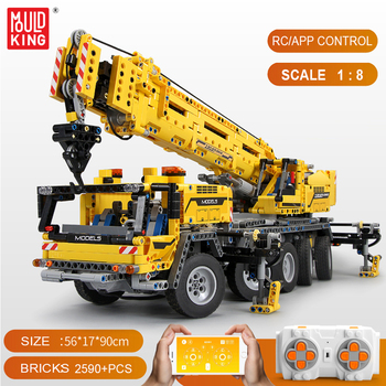 In Stock 20004 Mould King 13107 Technic Series Motor Power Mobile Crane Mk II Building Blocks Bricks Kits Gifts Toys 42009 image