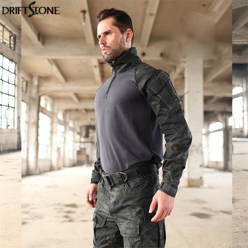 Uniforme militar MTP entrenamiento G3 trajes camuflaje táctico Multicam Rana trajes ejército Airsoft camisa de combate y pantalones de carga - 6