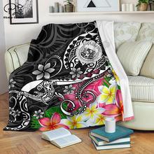 Гавайская Полинезия одеяло печать с черепашкой 3d шерпа на кровать