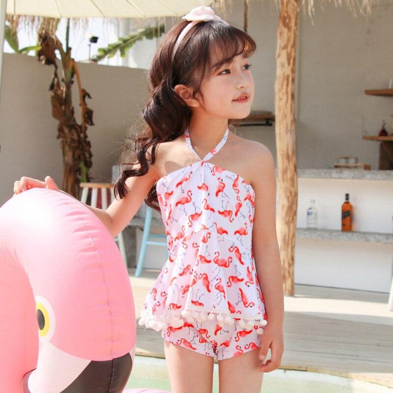 Wave Die Yi KID'S Swimwear GIRL'S GIRL'S Swimsuit Cute Large Children South Korea Students Split Skirt-Tour Bathing Suit