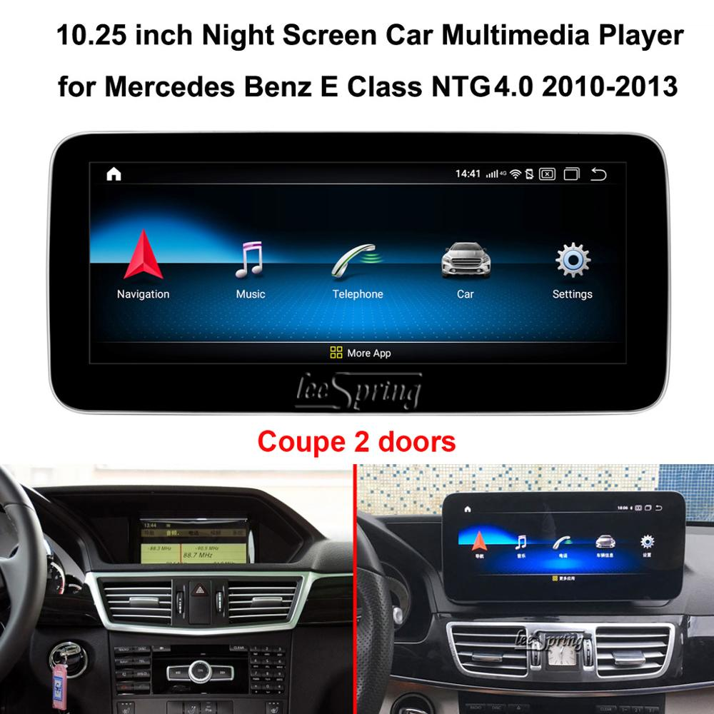 10.25 inch <font><b>Android</b></font> 9.0 Car Multimedia Player for Mercedes <font><b>Benz</b></font> E-Class Coupe(2 doors) <font><b>W212</b></font> NTG4.0 2010-2013 GPS Navigation image