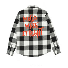 MELLO HA RESO TASTO DESTRO-UP MARSHMELLOElectronic Sillaba Periferia Plaid Shirt A Manica Lunga EDM Top 100 Vestiti DJ(China)