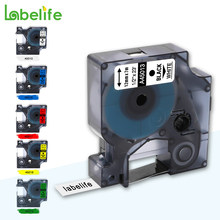 Labelife 45013 45010 1pc compatível multicolorido dymo d1 etiqueta fita 12mm 45018 40918 para dymo labelmanager maker 160 280 210 260p(China)