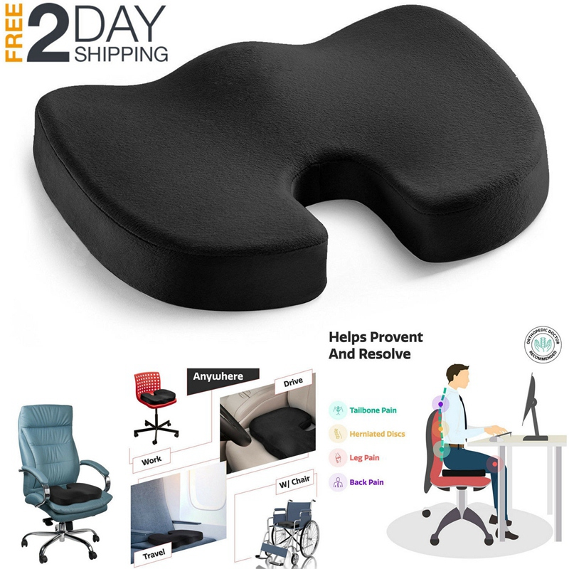 Orthopedic Pillow Seat Memory Foam Chair Office Cushion Coccyx