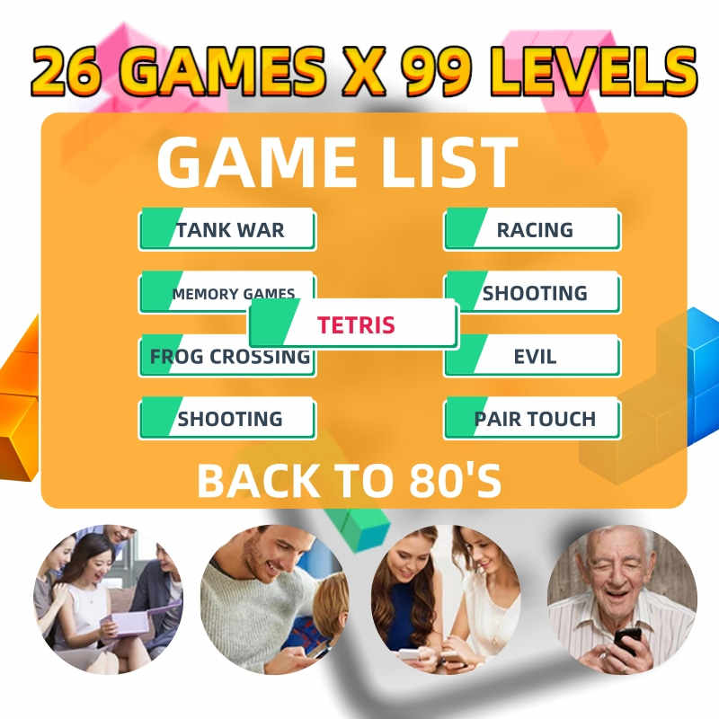 רטרו וידאו משחק ילד מקרי טלפון עבור iPhone 11 פרו מקסימום 6 6s 7 8 בתוספת X XS XR מקרה Gameboy מסוף טטריס סיליקון כיסוי קלאסי