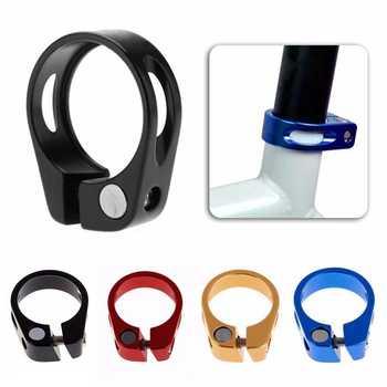 1Pc Mountain Bike Seat Pipe Clamp Road Bike 31.8 / 34.9mm Bicycle Seatpost Clamp Seat Post Tube Clip With 4 Color image