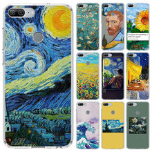 Aesthetic Van Gogh Case For Huawei Honor 10 9 Lite Y5 Y6 Y7 Y9 2019 9X 8X 8S 8A Pro 7A 10i 20 Nova 6E V30 Phone Coque Cover(China)