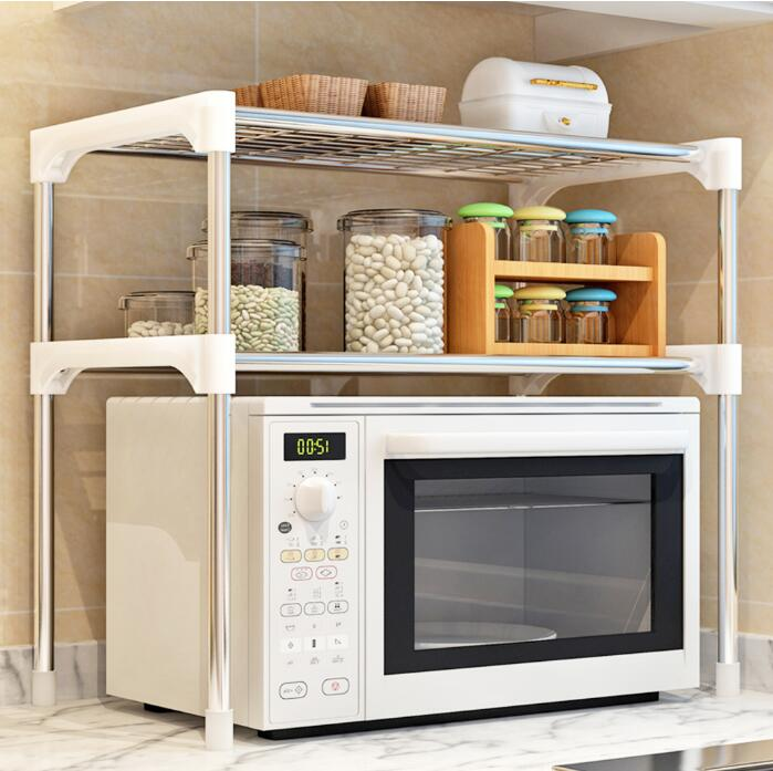 Microwave Oven Shelf Rack Kitchen Shelf Spice Organizer Kitchen Storage Holders Rack Bathroom Organizer Shelf Book Shoes Shelve image