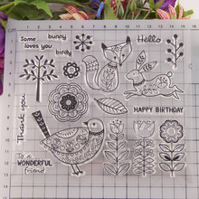 Craft-Supplies Clear-Stamps Diy Scrapbooking Photo-Album Animal-Flower Silicone-Seal