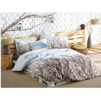 Easy to Be Ironed Duvet cover set Double Personality Peace Blue (Daytime)