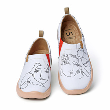 Canvas Loafers Travel-Shoes Walking-Sneakers UIN Women Painted Lightweight Comfort Kiss-Art