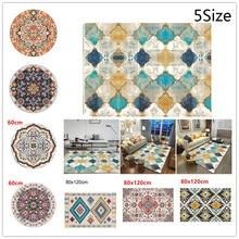 1 * alfombra geométrica de estilo étnico marroquí alfombra de sala de estar dormitorio alfombra de felpa Vintage 5 tamaños