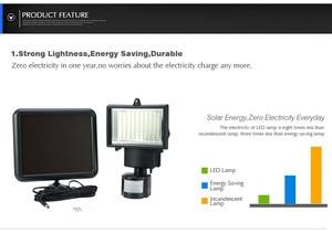 Image 5 - 방수 PIR 안전 벽 빛 100 LED 야외 태양 모션 센서 정원 빛 정원 투광 조명 거리 빛 새로운 센서