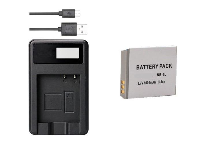 NB-6L NB6L NB-6LH NB6LH Батарея+ Зарядное устройство зум-объектив для Canon Powershot SD770 SD980 SD1200 SD1300 SD3500 SD4000 является D10 D20 D30 SX540 SX710 - Цвет: Черный