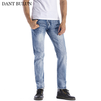 Men's Jeans Slim Fit  Classic Denim Pants Straight Male Jeans Designer Trousers Casual Skinny Jean Pantalones Jeans Homme 2016 new arrived men s biker jeans bule casual slim distressed denim hiphop pant for male hots jean designer skinny trousers