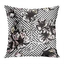 Наволочка для подушки с цветочным рисунком мягкий бархатный