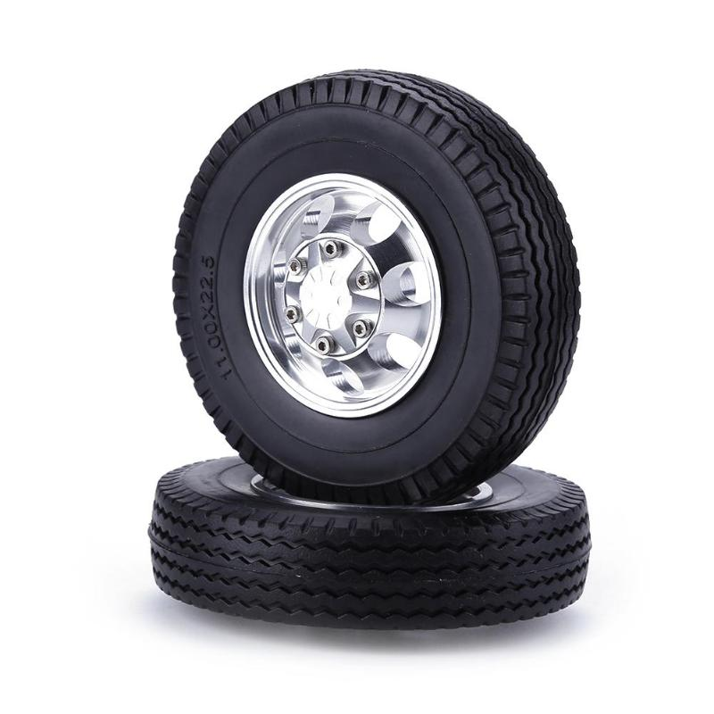 2pcs <font><b>RC</b></font> Car Toys Front Wheel <font><b>Truck</b></font> Tire for <font><b>1/14</b></font> <font><b>Tamiya</b></font> Climbing Trailer 4pcs <font><b>RC</b></font> Car Shell Stand Portal Drive Housing for <font><b>RC</b></font> Toy image