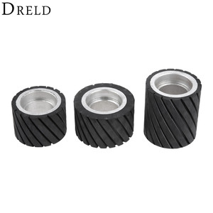 Ленточная шлифовальная машина DRELD 70*50 мм 80*50 мм 70*80 мм, резиновое Контактное колесо, набор абразивных шлифовальных лент, шлифовальный круг дл...