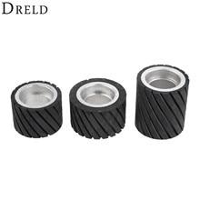 DRELD 70*50mm 80*50mm 70*80mm Belt Grinder Rubber Contact Wheel Abrasive Sanding Belt Set Polishing Grinding Sanding Wheel