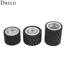 Резиновое Контактное колесо DRELD, абразивный шлифовальный ленточный круг, 70 х50 мм, 80 х50 мм, 70 Х80 мм