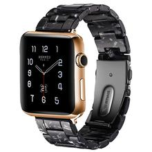 Resin strap For Apple watch band 44 mm 40mm iwatch band 42mm 38mm stainless steel buckle Watchband bracelet Apple watch 4 3 2 1 цена и фото