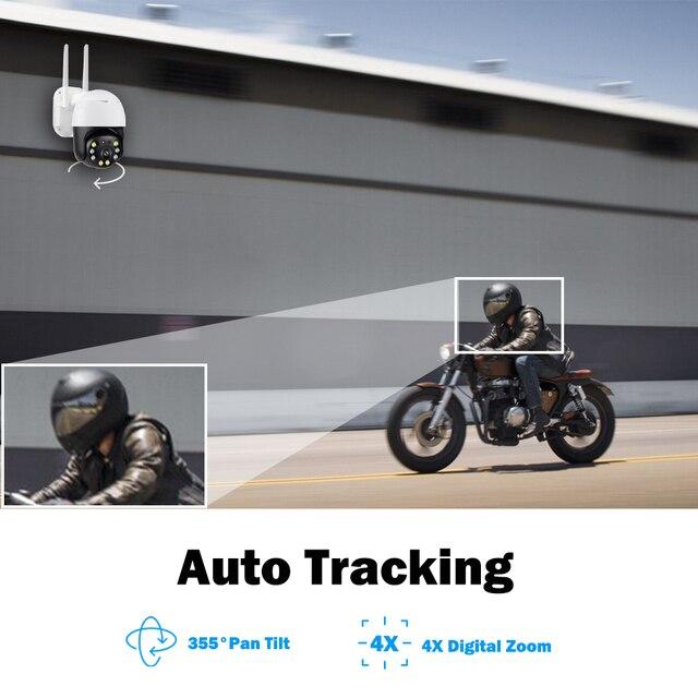 5MP caméra surveillance PTZ Wifi IP caméra extérieure 4X numérique Zoom AI humain détecter H.265 P2P ONVIF Audio sécurité CCTV sans fil camera video surveillance 3