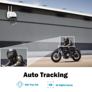 Беспроводная 5MP HD IP камера видеонаблюдения купольная наружная PTZ домашняя CCTV 2-сторонняя аудио Автоматическая отслеживающая Onvif видеонаблюд...
