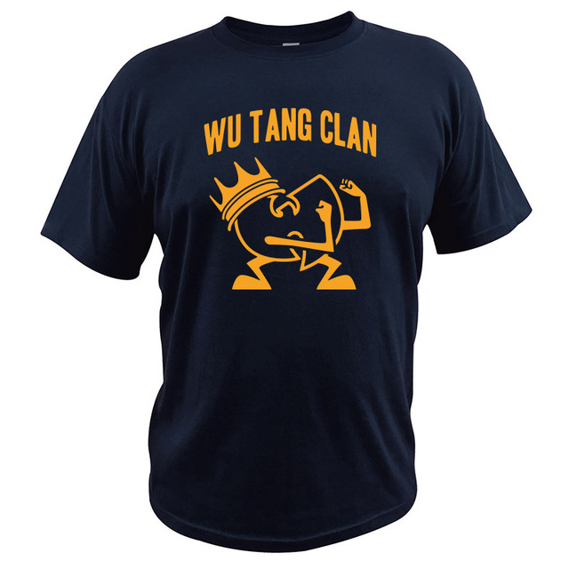 Wu Tang Clan T shirt Single Songs Ain t Nuthing Ta Wit Hip Hop Band Tshirt Soft Vintage Camisetas EU Size 100 Cotton