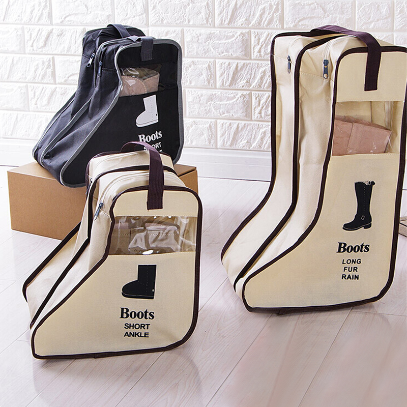 2 Size Boot Storage Bag Shoe Pocket Case Travel Boot Cover Portable Practical Korea Style Pouch Dustproof Zipper Bags