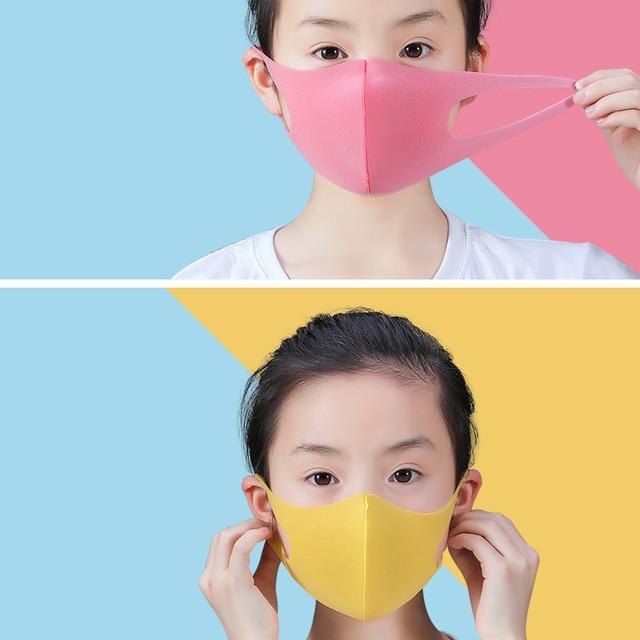 5Pcs Washable Earloop Mask Outdoor Mouth Face Mask Adult Kids Cold Prevention Masks 5