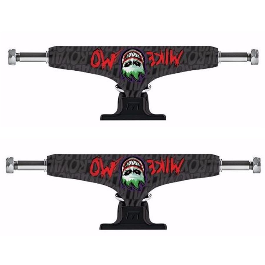 """2 piezas de camiones de monopatín real de 5,25 """"de aluminio Tabla de patines de camión al aire libre monopatín soportes para cubiertas de doble balancín"""