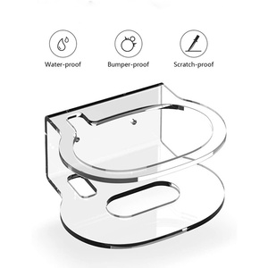 Image 2 - For Google Nest Audio Wall Mount Holder Acrylic Stand Bracket Space Saving Desktop Holder For Google Nest Audio Smart Speaker