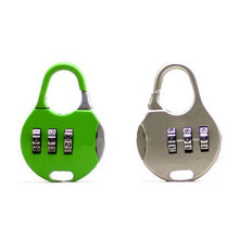 Zlinkj 1 Pcs Top Sale 3-Digit Cartoon Legering Combinatie Code Number Lock Hangslot Voor Bagage Rits Tas Rugzak koffer(China)