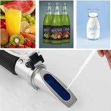 Rz refratômetro handheld brix 0 meter 32% medidor atc para o refratômetro handheld refratômetro do açúcar do suco de leite