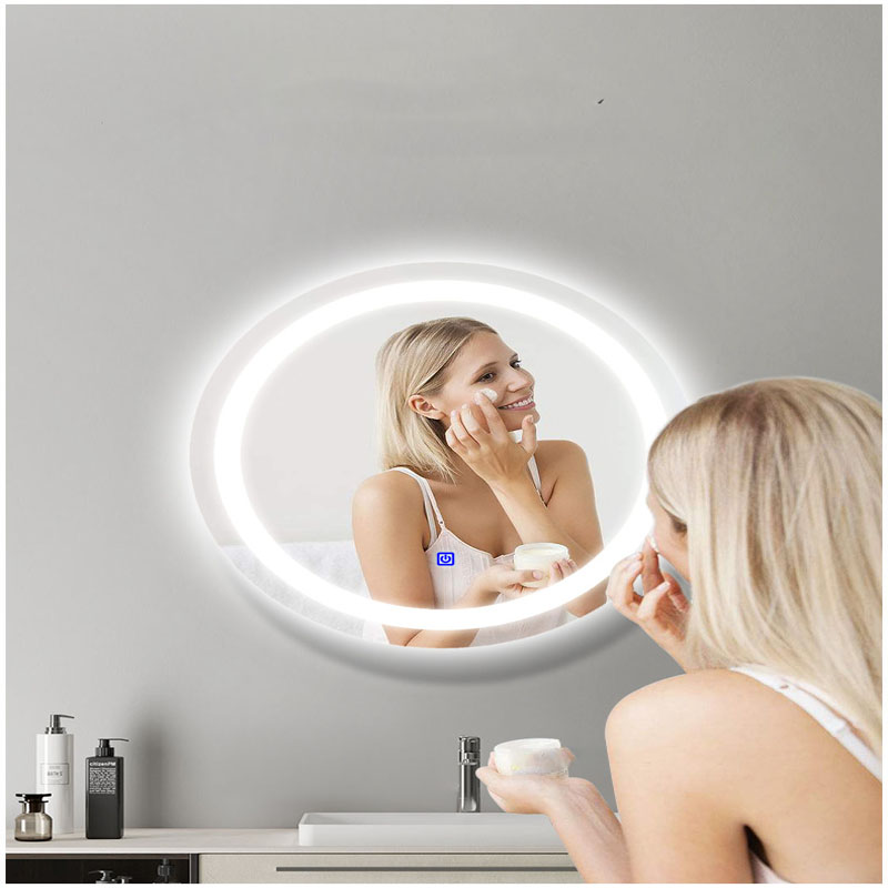 ┴Closeout DealsLight Fog-Mirror-Light Bathroom Round with Smart-Touch-Switch High-ClearÁ