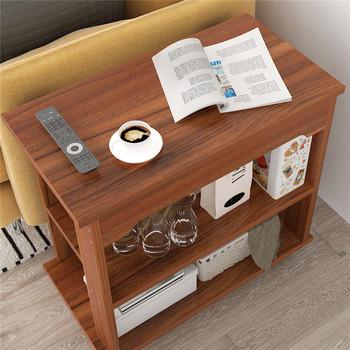 Nowoczesne lite drewno stoliki stolik nocny szafka domowa Sofa stolik ruchomy Sofa stoliki meble do salonu tanie i dobre opinie CN (pochodzenie) Drewna Z litego drewna China 80*40*55cm Europa i ameryka Rectangle Montaż