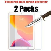 2 pacotes de vidro temperado protetor de tela para ipad 10.2 2019 7th 2020 8th geração apple ipad ipad película protetora